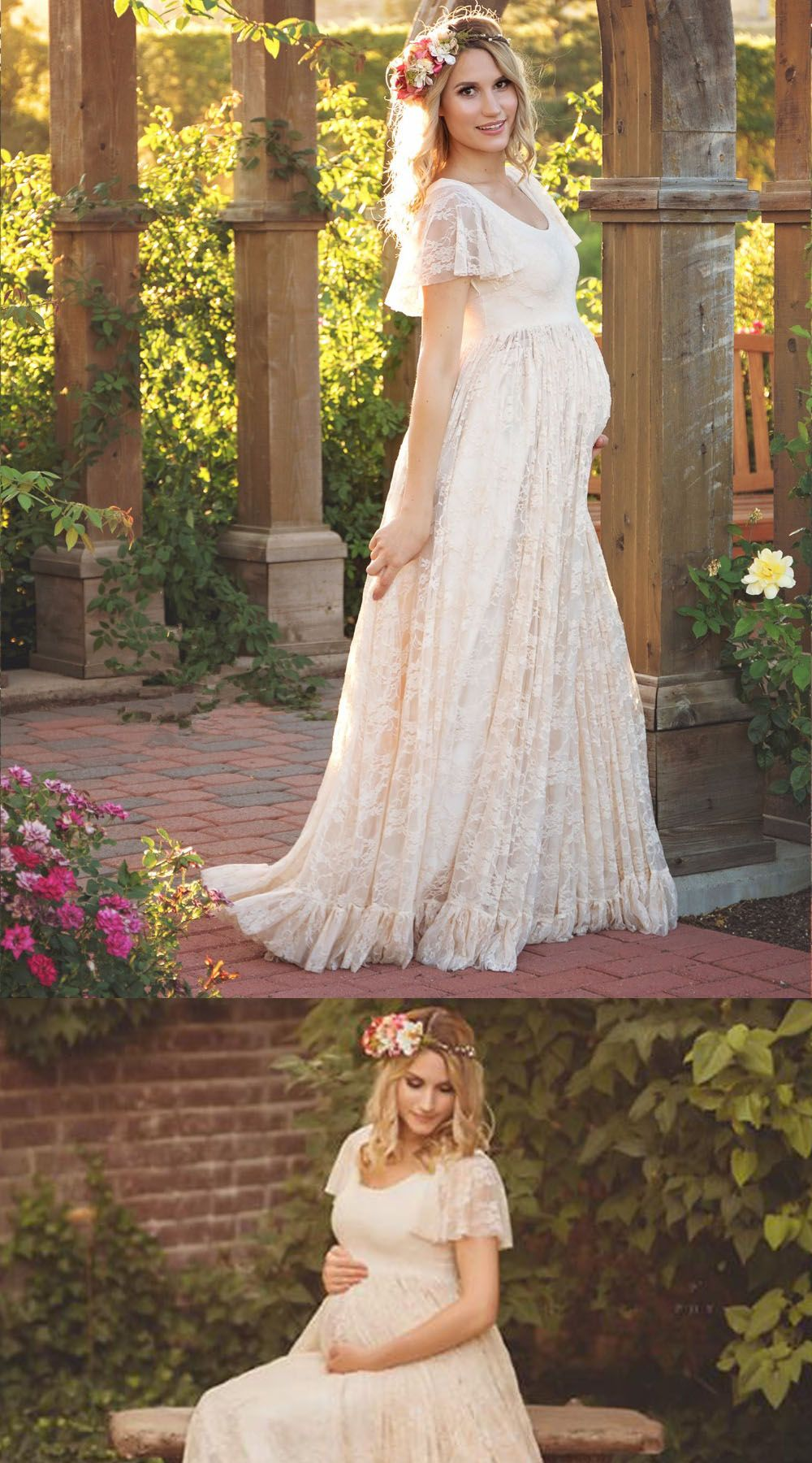 86640fcb14928 Cheap Plus Size Chiffon Maternity Wedding Dress, Brides, Pink Pregnancy  Wedding Dresses, Gowns, outfit, Ideas, attire, tips, thoughts, posts