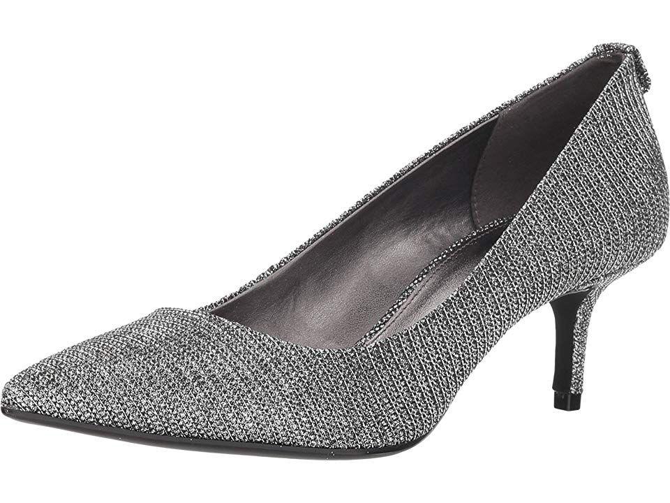 f5c477f8a17f MICHAEL Michael Kors MK-Flex Kitten Pump Women s 1-2 inch heel Shoes Black Silver  Glitter Chain Mesh