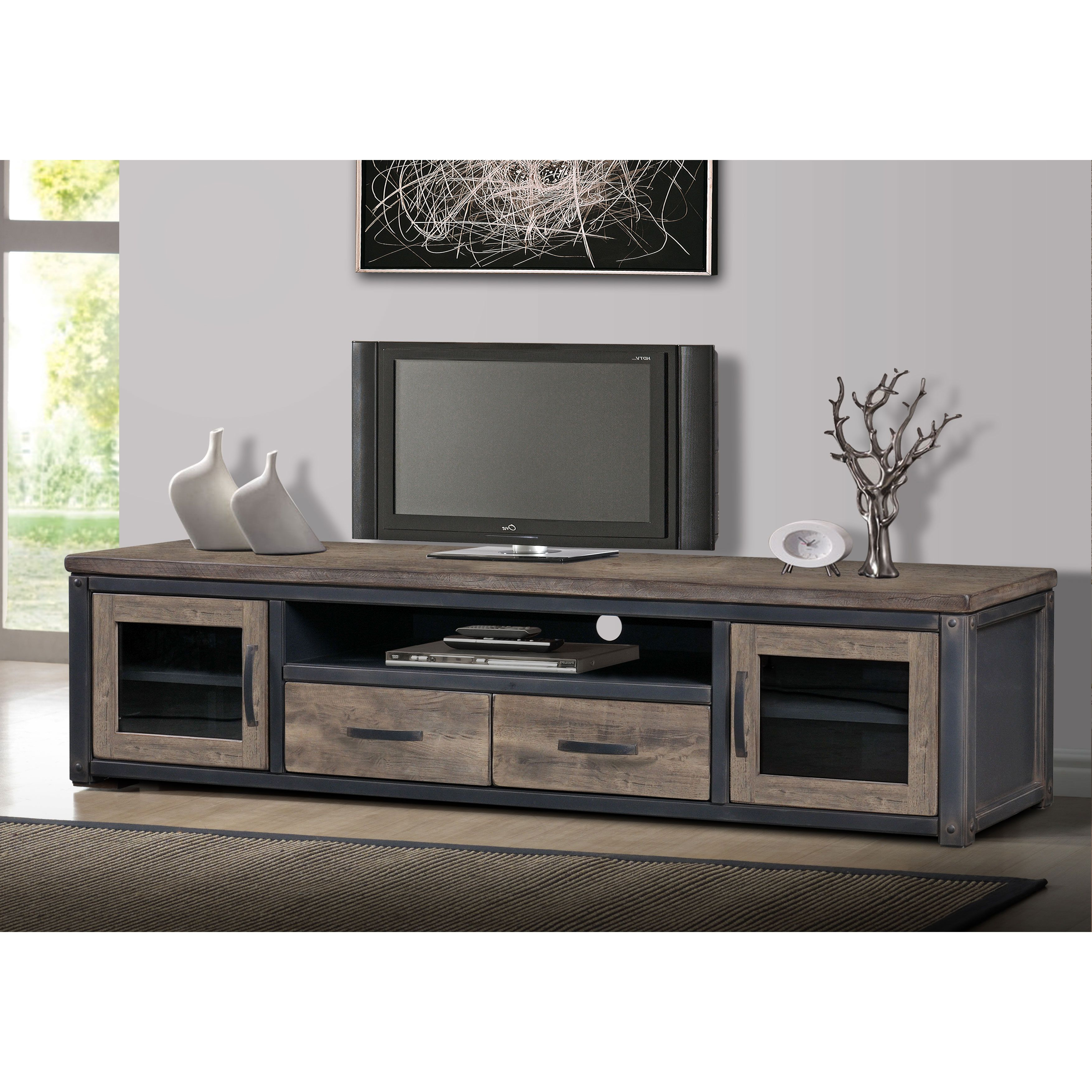 Heritage Rustic Entertainment Center | Glass doors, Drawers and ...
