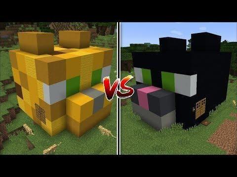 Minecraft OCELOT HOUSE VS CAT HOUSE MOD / FIND THE BEST ...