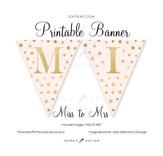 graphic about Free Printable Bridal Shower Banner called Pass up towards Mrs Banner - Printable, Bridal Shower Blush Red