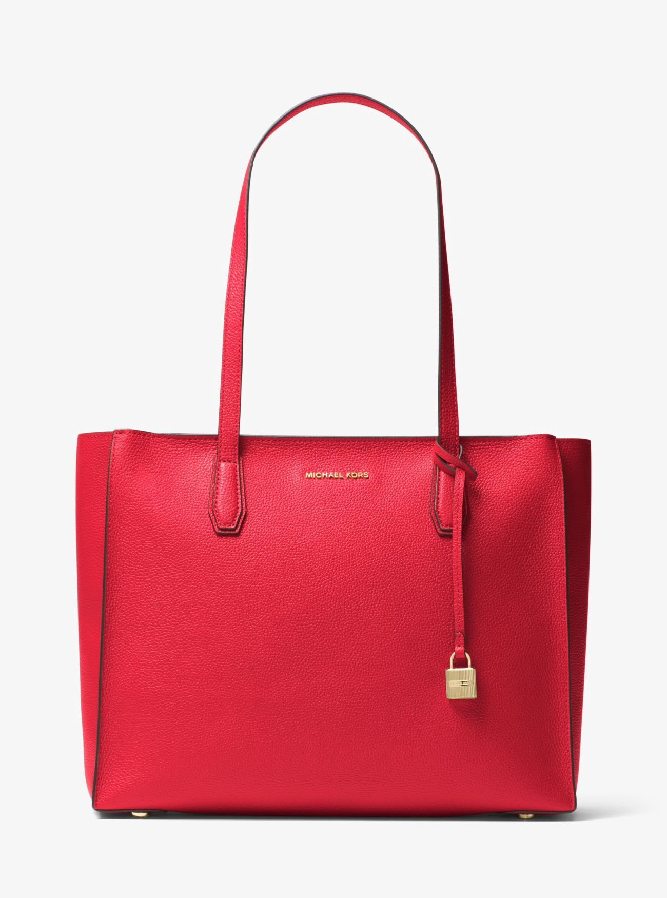 b0613e44715d MICHAEL KORS Mercer Large Top-Zip Leather Tote. #michaelkors #bags #leather  #hand bags #polyester #tote #lining #