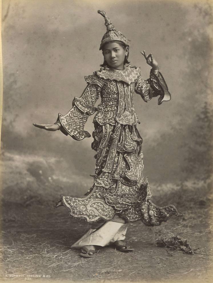 Burmese dancing girl 1880s.