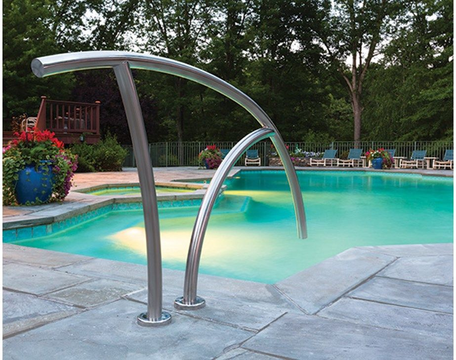 Best Artisan Hand Rail On Pool Pool Rails Pool Steps Pool 400 x 300