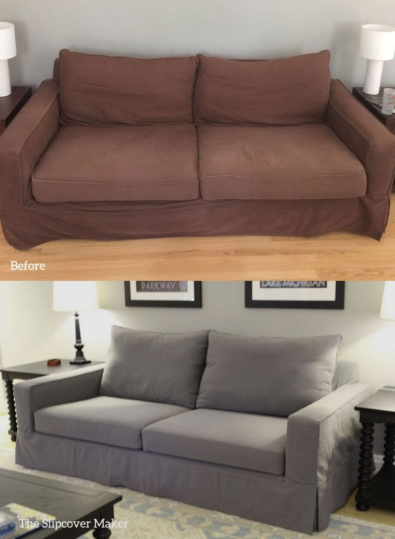 Cotton Poly Canvas Slipcover For Pottery Barn Sofa Slipcovers