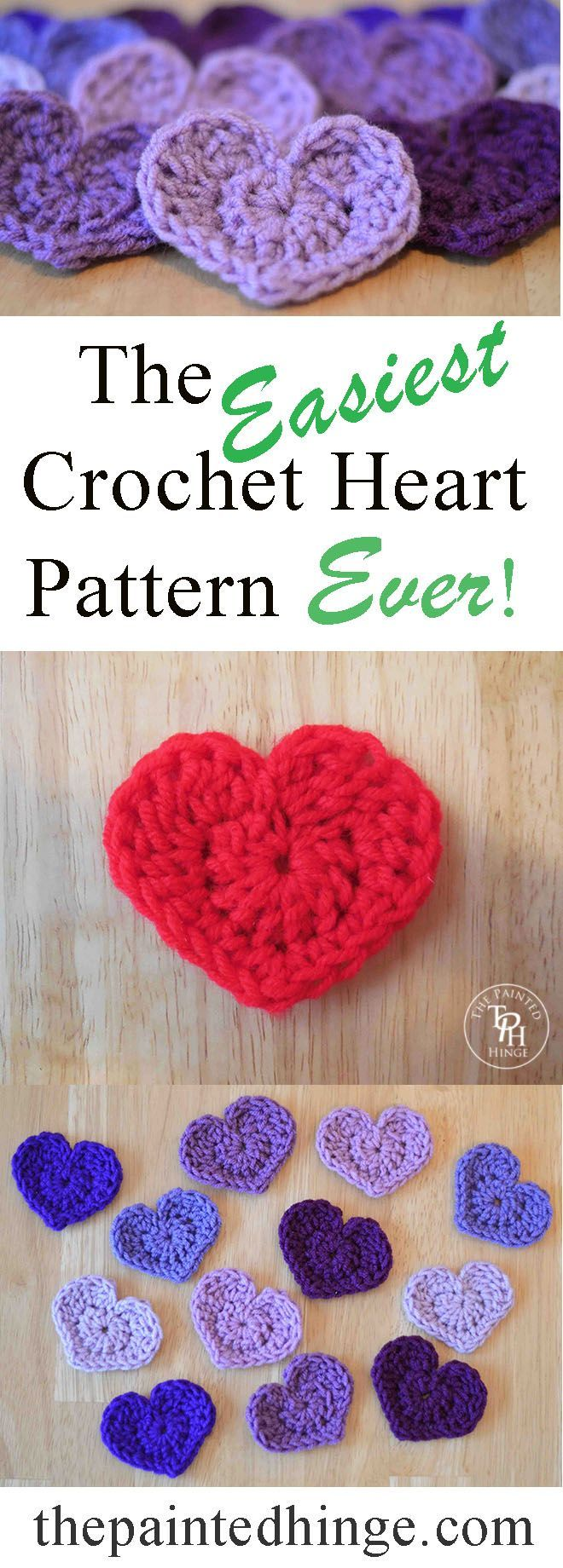 The Easiest Heart Crochet Pattern Ever! | Gehäkelte herzen, einfache ...