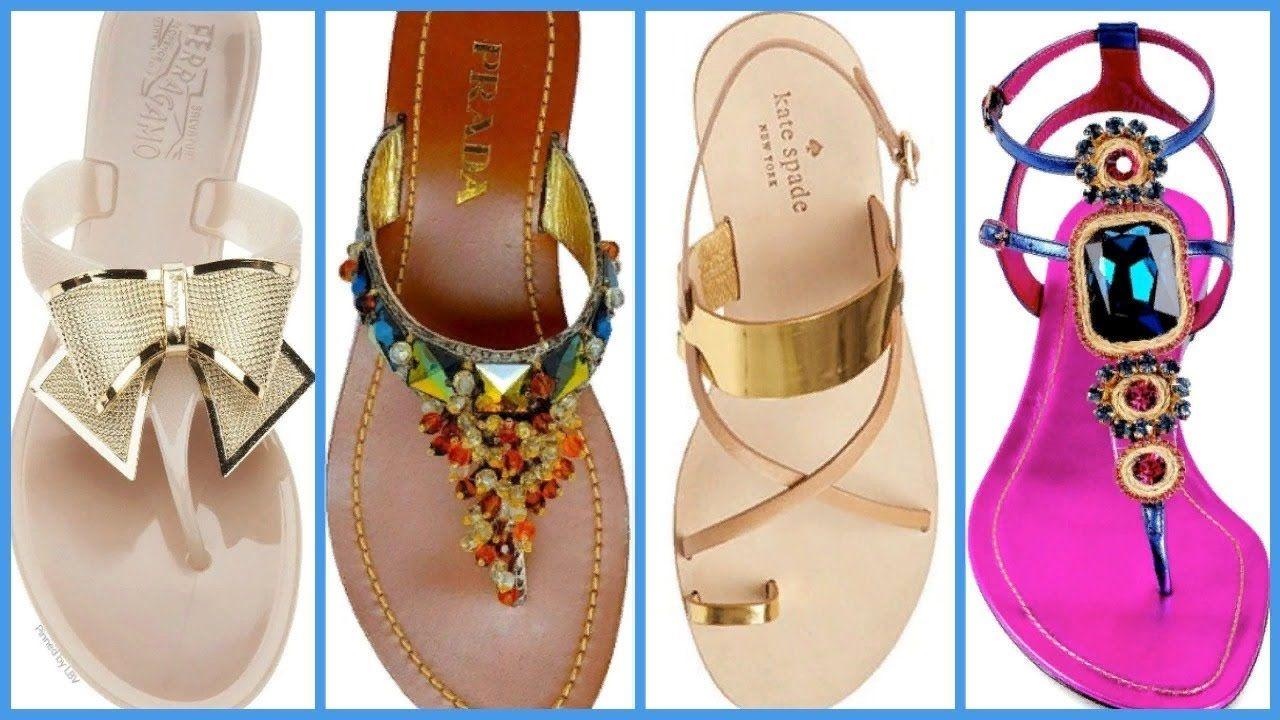 Latest Designer Flat Sandal for Girls