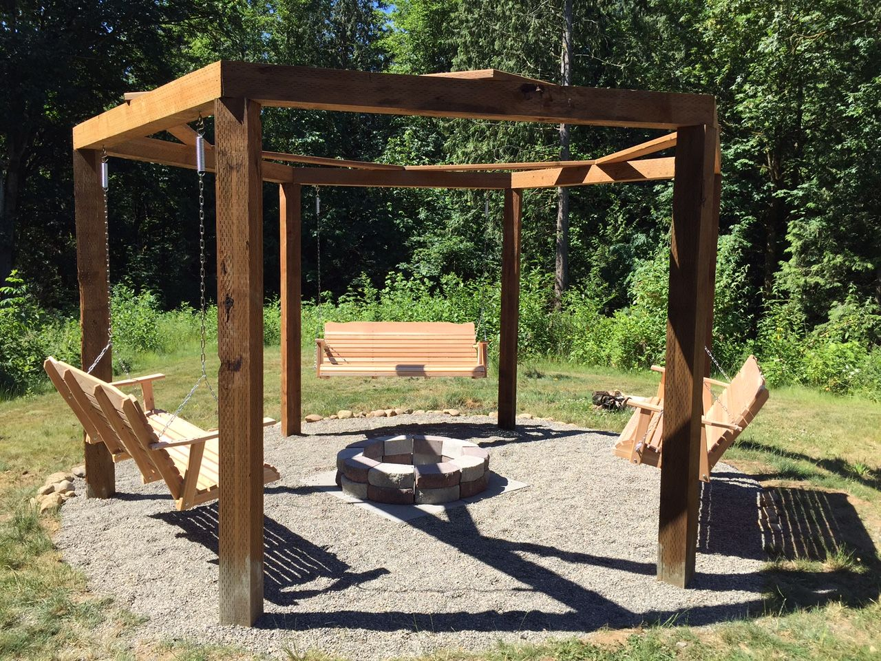 Fire Pit Gazebo Swingset Projects In 2019 Gazebo With