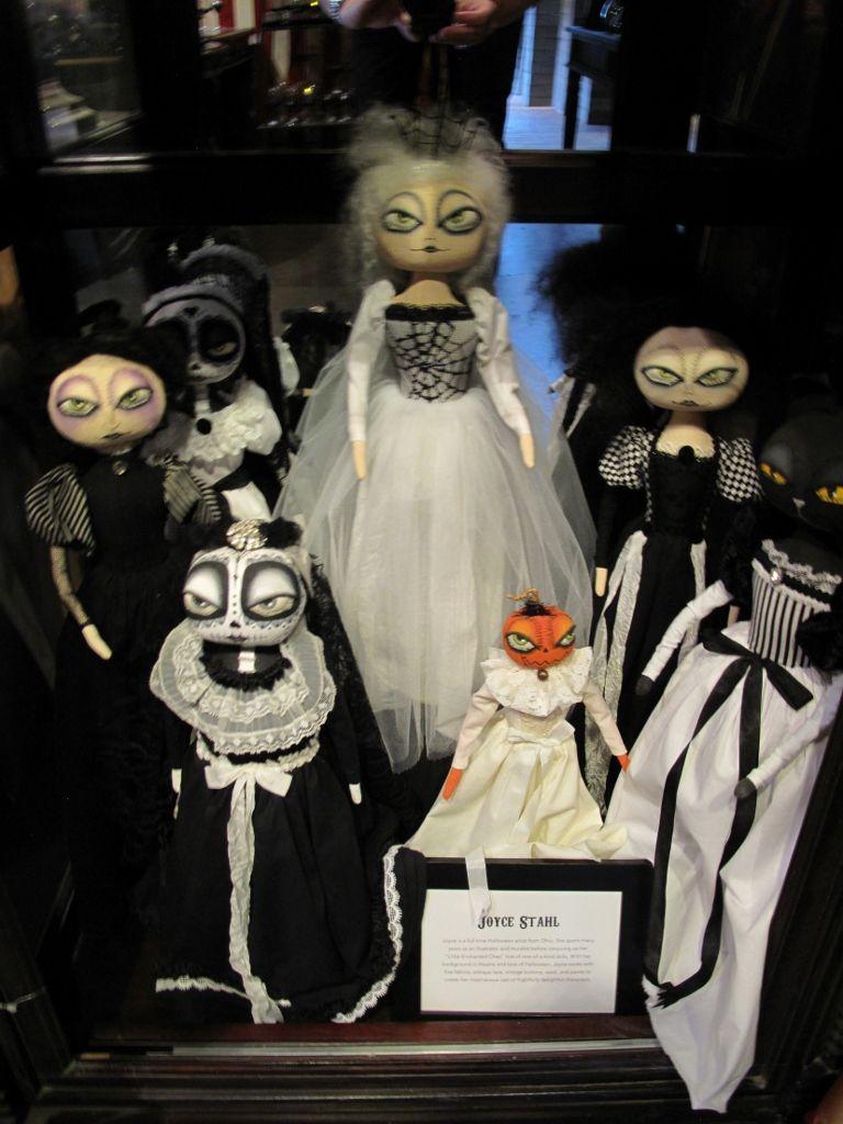 Joyce Stahl's artistic dolls at Roger's Gardens Halloween