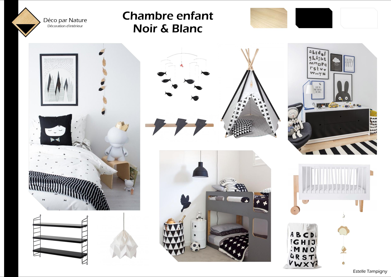Planche ambiance - Chambre enfants - Noir et blanc | Déco | Chambre ...