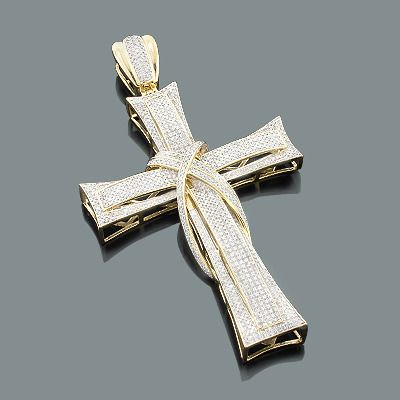 Diamond cross pendants 10k mens gold charm 226ct my goals diamond cross pendants 14k 18k gold diamond crosses itshot mozeypictures Gallery