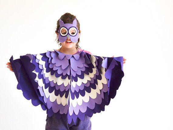 Los niños traje de búho alas de pájaro de los niños por BHBKidstyle