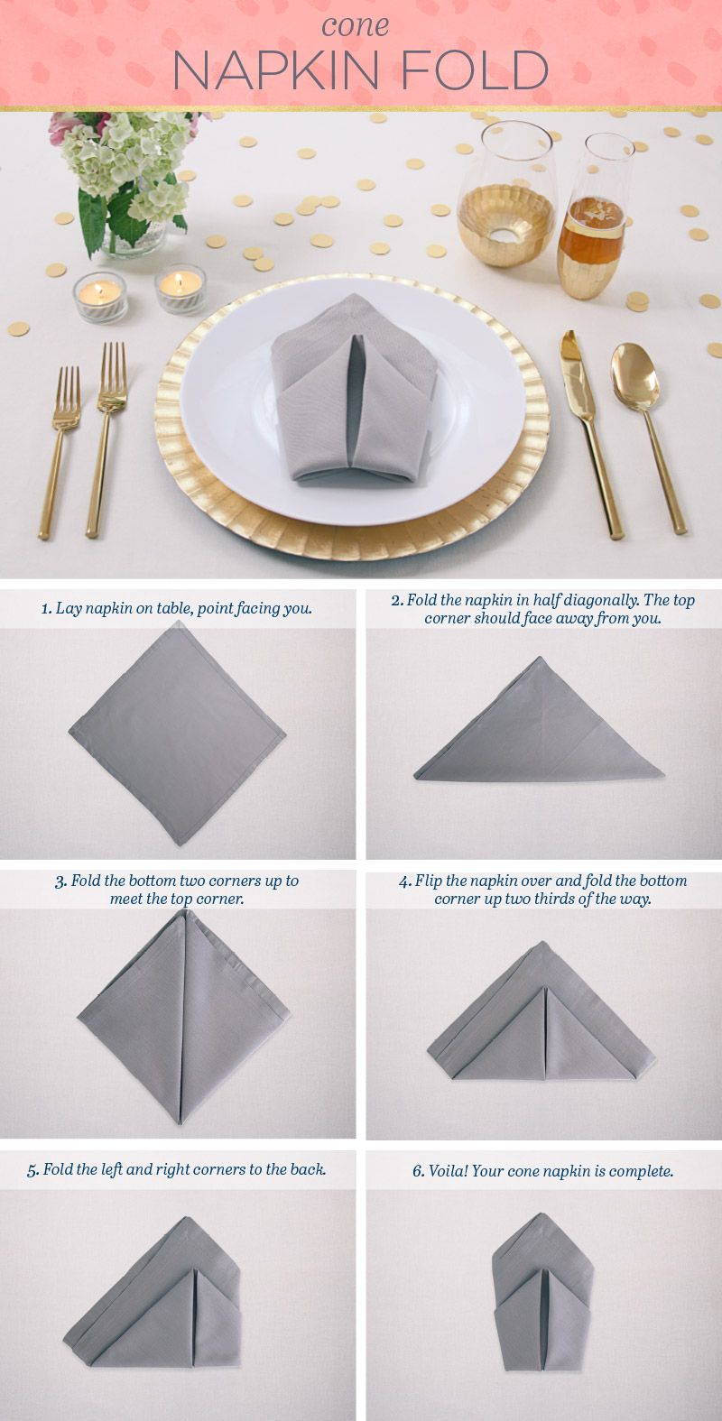 Folding Napkins Foldingnapkins Easy Napkin Folding Paper