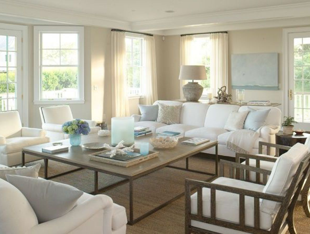 Beach house inspiration. Hamptons style lounge room | Beach house living  room, Home living room, Coastal living rooms