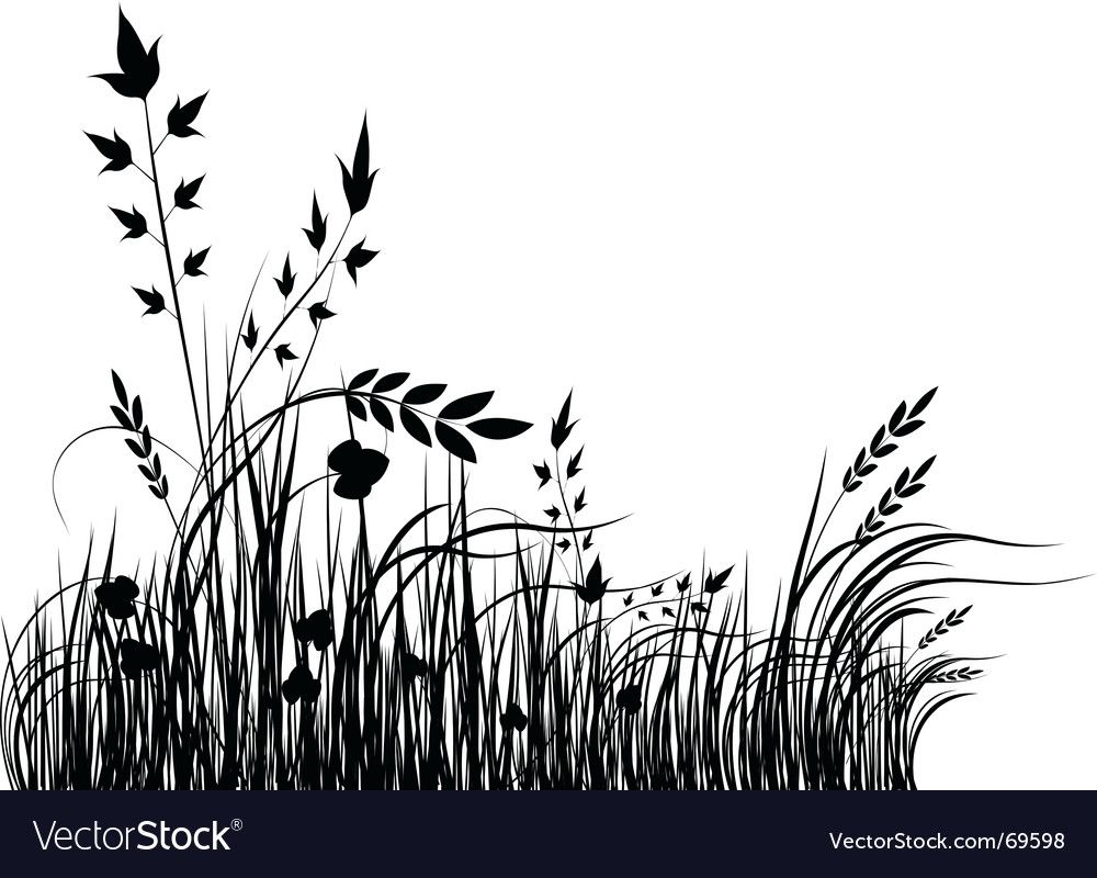 Grass Silhouette Download A Free Preview Or High Quality Adobe Illustrator Ai Eps Pdf And High Resolution Jpeg Grass Silhouette Silhouette Art Grass Drawing