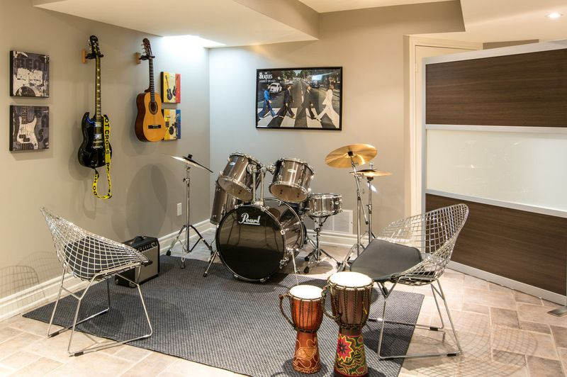 Teenager Friendly Basement Gets Decked Out For Music Video Games
