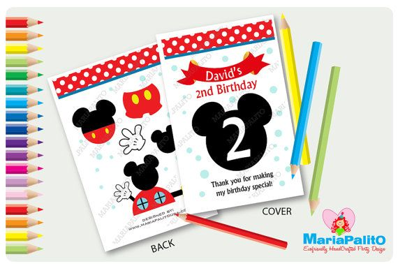 6 mickey mouse coloring books personalized coloring by mariapalito - Personalized Coloring Books