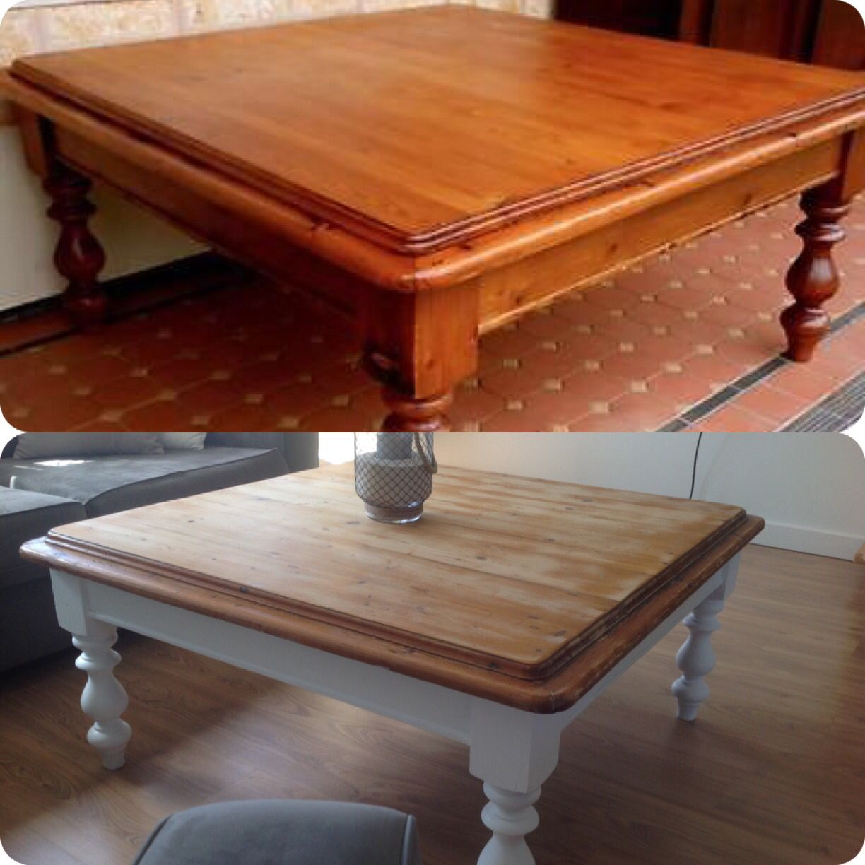 Upcycled pine coffee table. Shabby chic Shabby chic