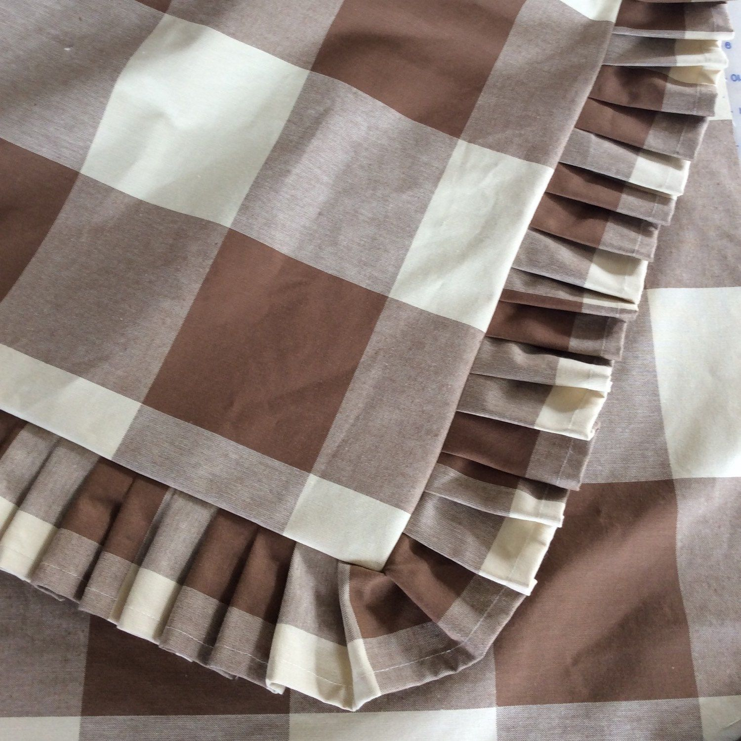 P Kaufmann Large Buffalo Check Euro Sham With Pleated Ruffle Or Gathered Ruffle Available In Several Colors Buffalo Check Fabric Buffalo Check Bedding Brown Decor