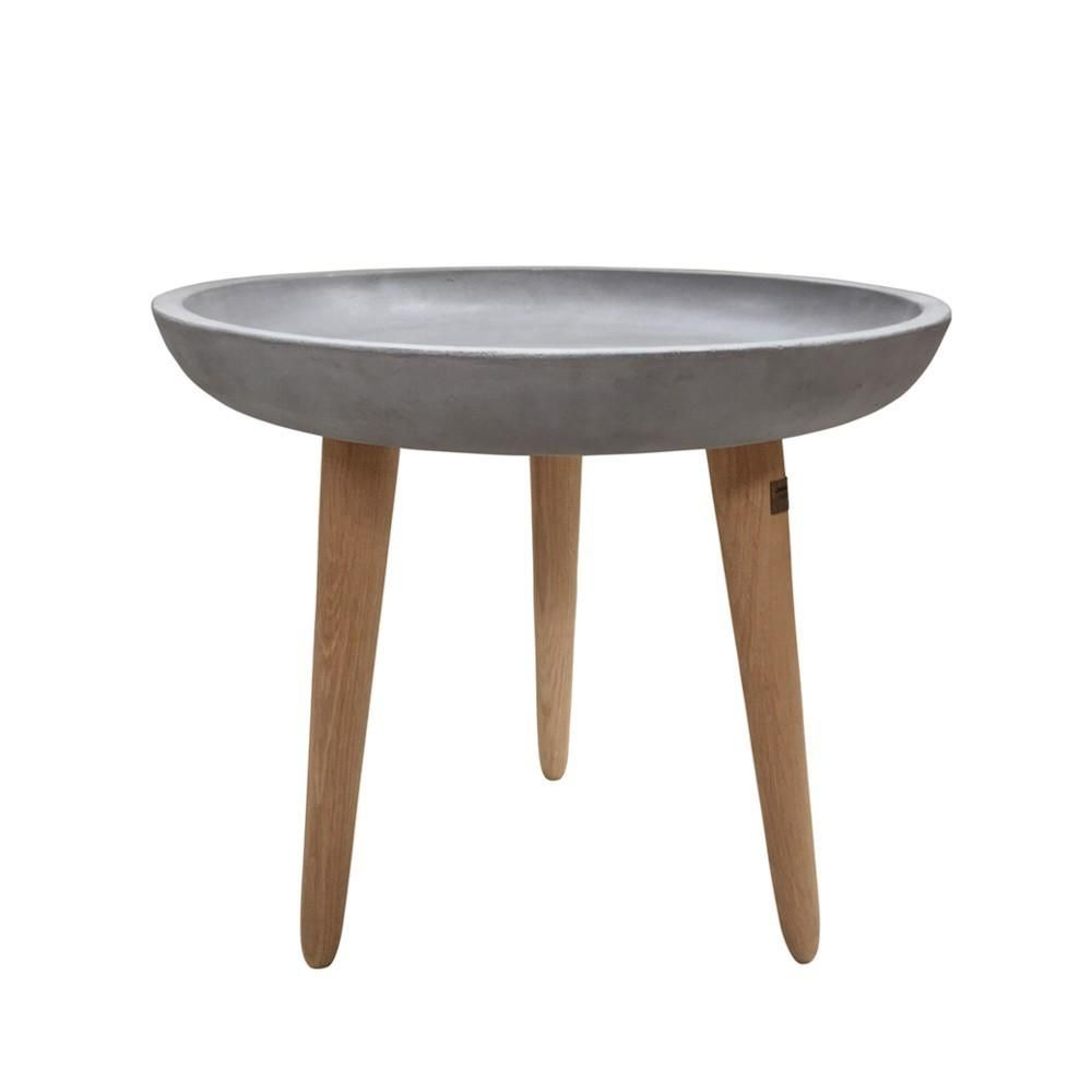Durie Aspen Round Indoor Outdoor Concrete Side Table Small