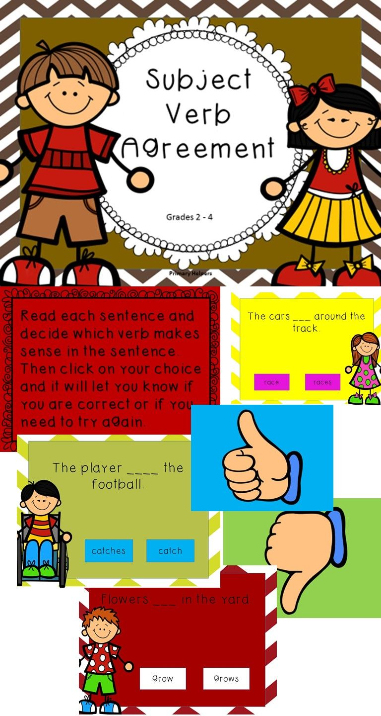 Subject Verb Agreement Special Education Pinterest Subject