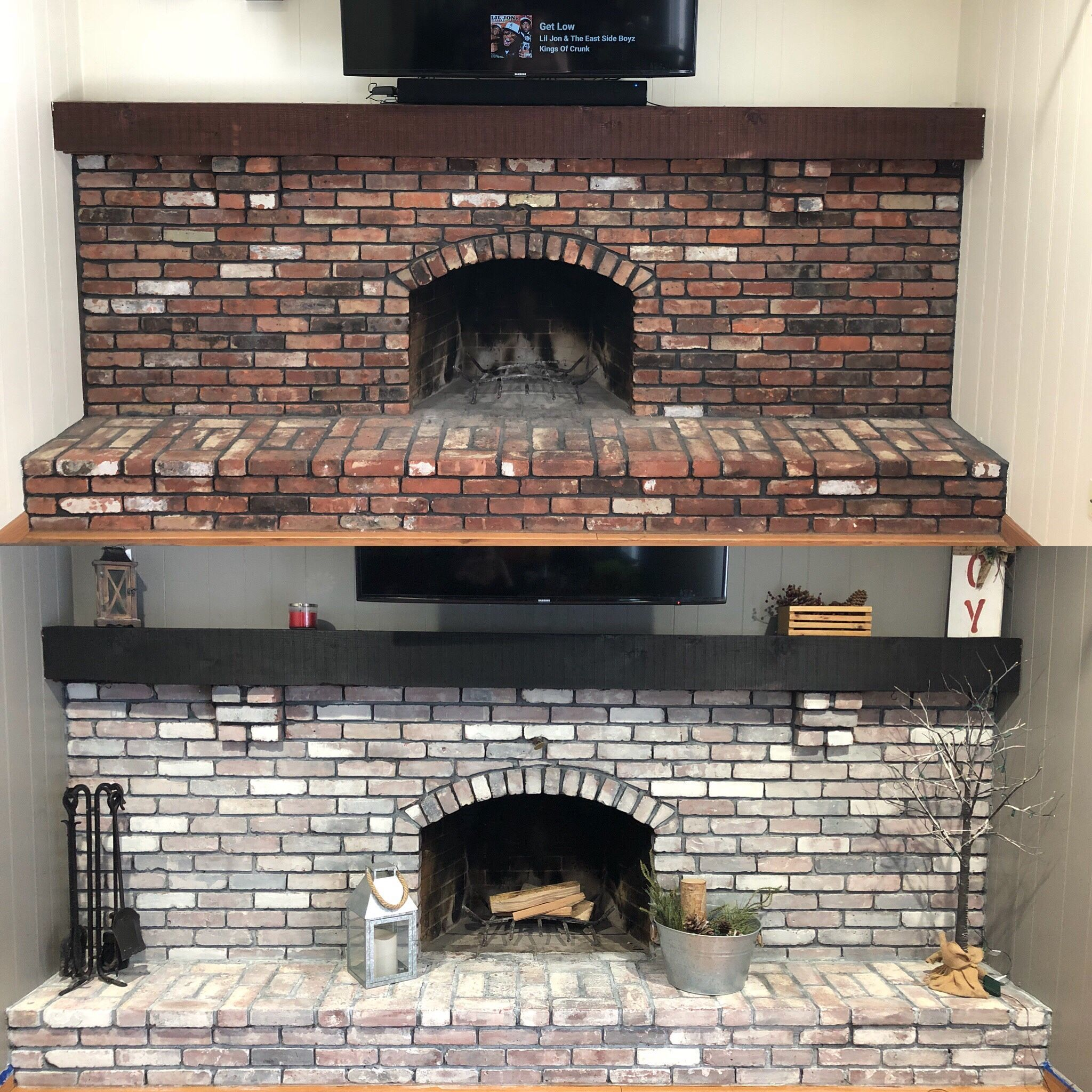 DIY Whitewash Brick Fireplace A family and teacher resource with
