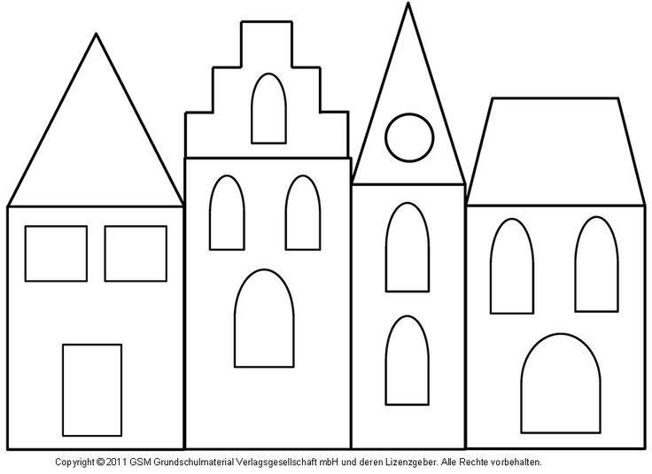 Fensterbild: Häuser mit Transparentpapier 3 - Medienwerkstatt-Wissen © 2006-2008 Medienwerkstatt #1adventbilder