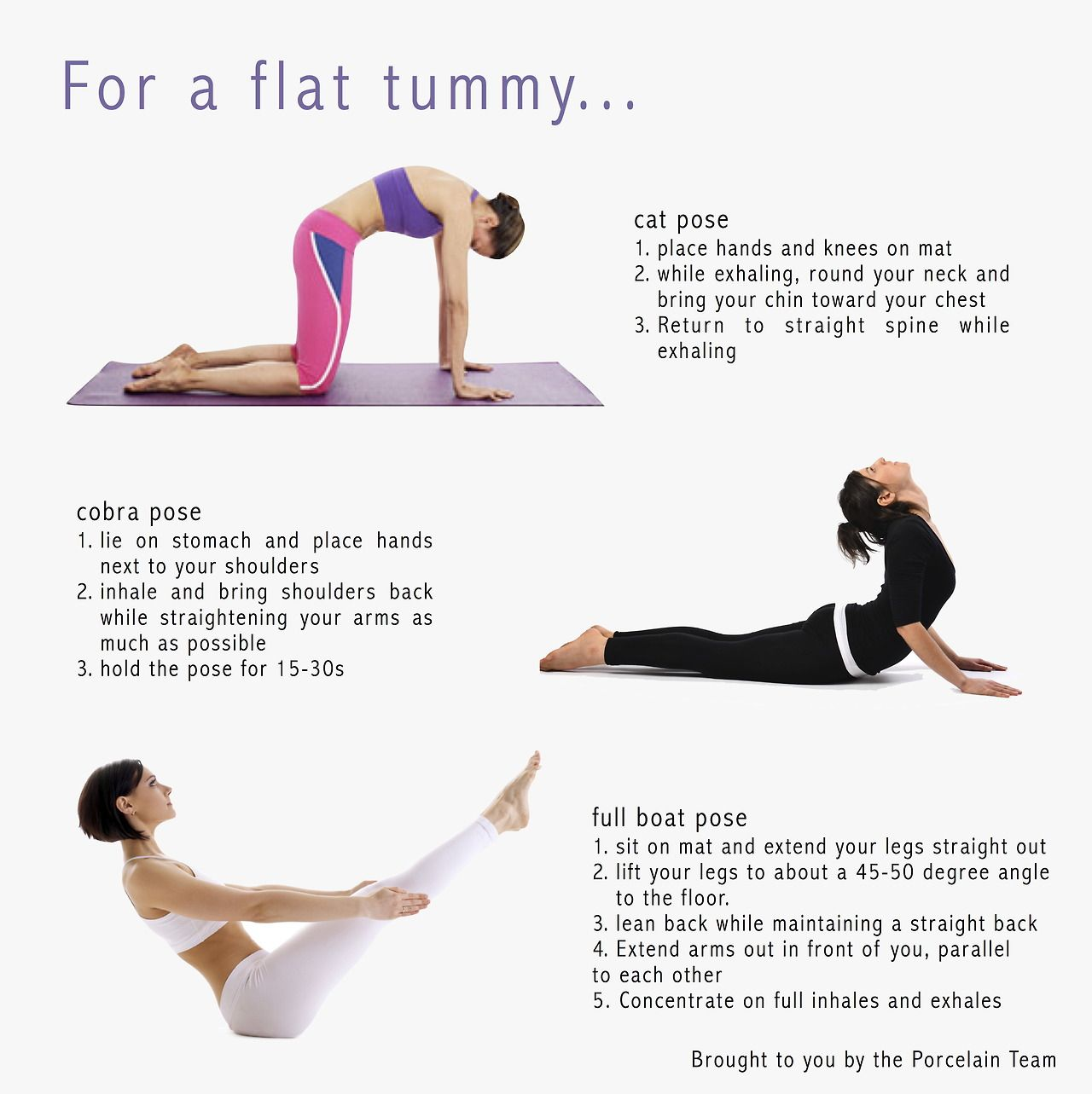 For A Flat Stomach Easy Yoga Poses Tummy Workout Flat Tummy Workout