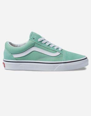 4588c12389 VANS Old Skool Womens Neptune Green   True White Shoes
