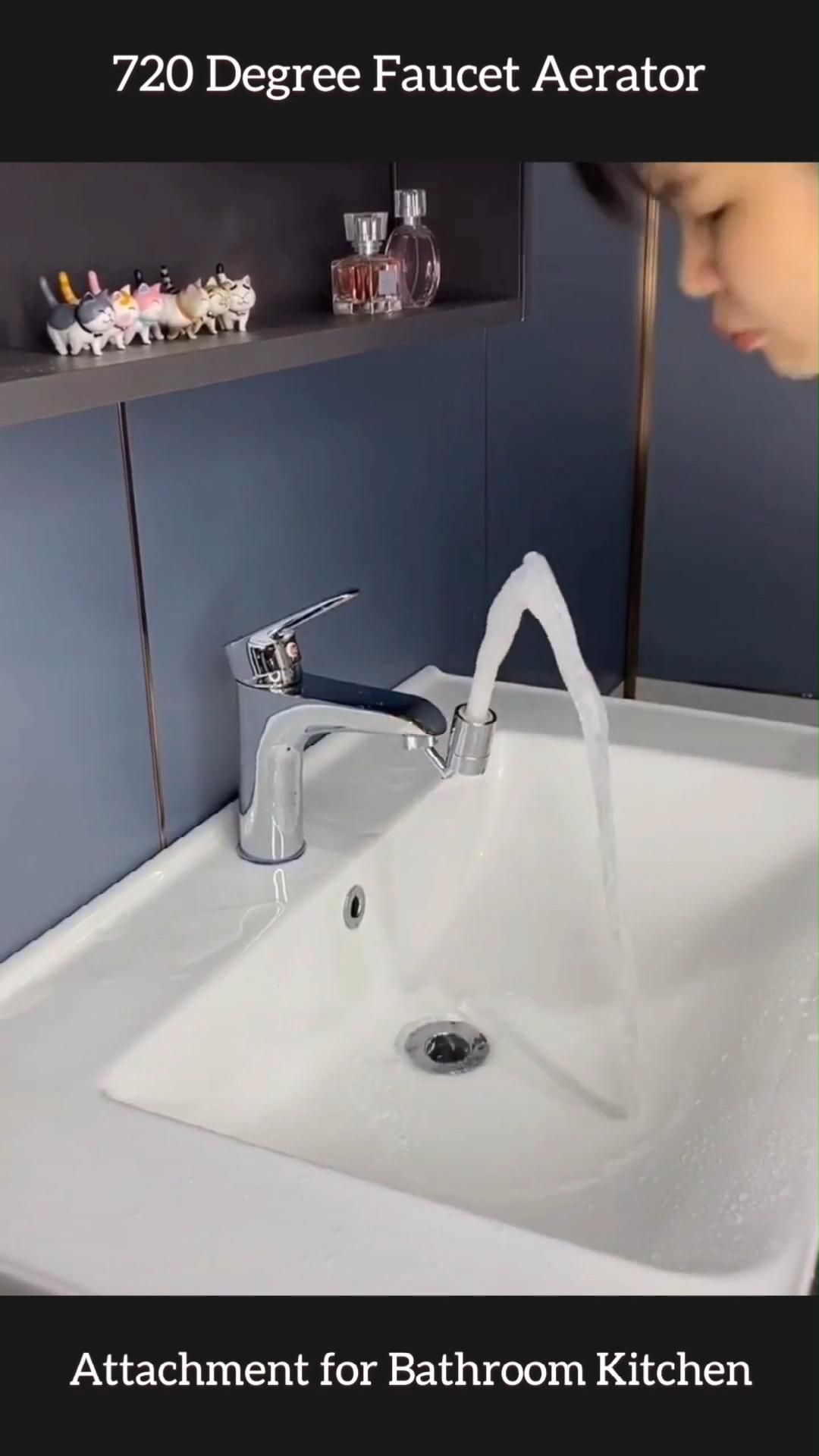 720 Degree Swivel Sink Faucet Aerator For Kitchen Bathroom Video Video Bathroom Interior Design Modern Bathroom Design Bathroom Makeover [ jpg ]