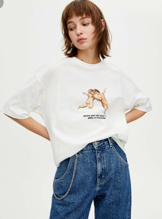 Pull And Bear Bff T Shirt White Womens Size Small Bnwt Fashion Clothing Shoes Accessories Womensclothing Tops Ebay Link Ropa Ropa De Moda Moda