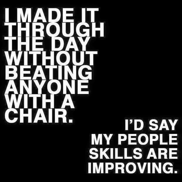Actually It Was The Thought Of Beating Someone With A Chair Lol Llk Funny Quotes Fun Quotes Funny Quotes