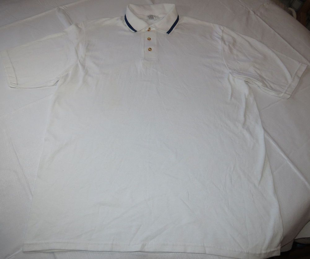 Stedman By Hanes Adult M 38 40 Mens Pocket Polo Shirt Apparel Sports