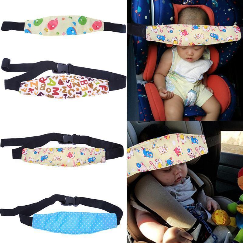 L Sleep Support Holder Fasten Kids Nap Stroller Safety Head Seat Car Aid Belt
