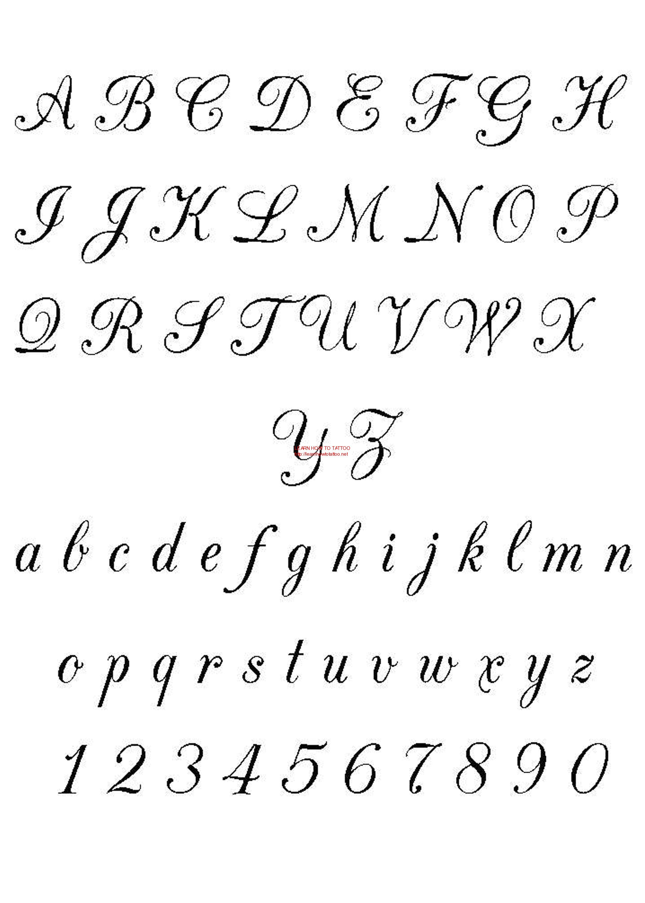 Free Fonts Calligraphy Free Download Tattoo 3504
