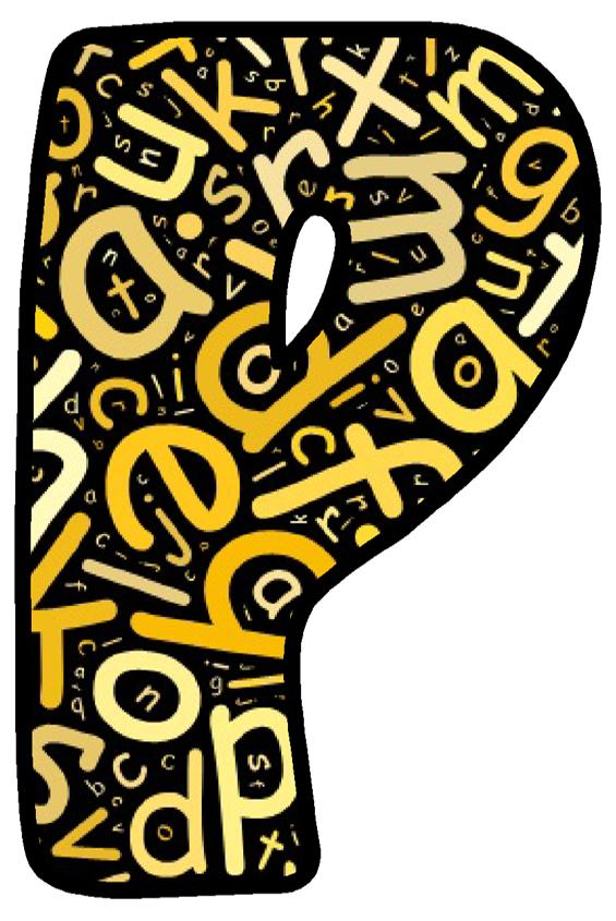 Buchstabe Letter P Letters Alphabet Abc