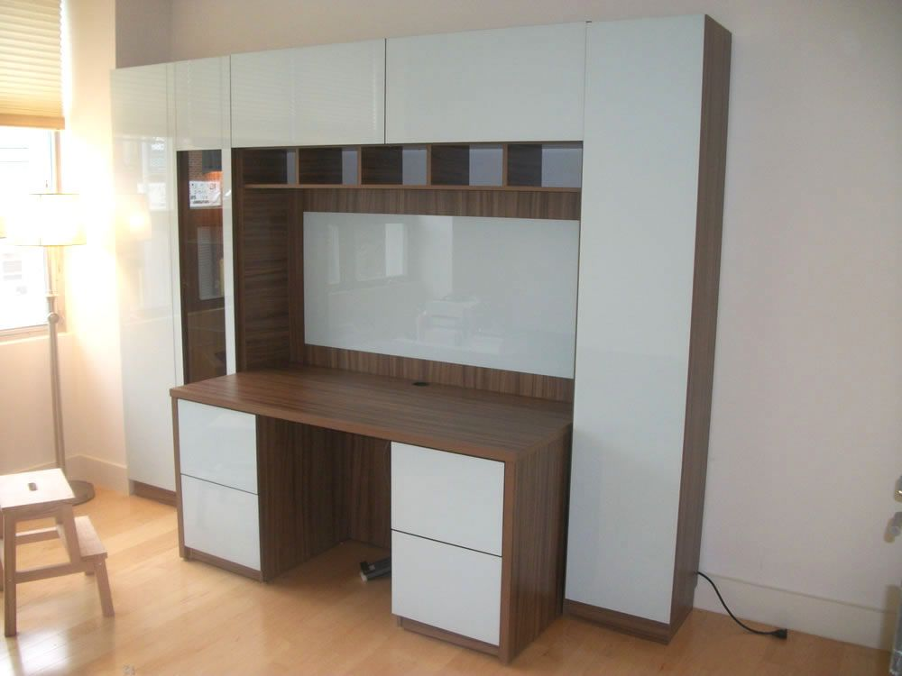 Resemblance Of Wall Unit With Desk Smart Storage Solution For Home Office