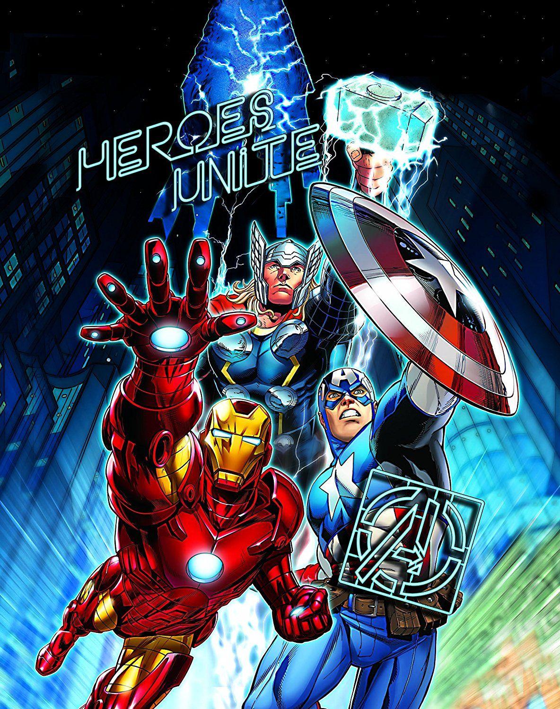 Amazoncom Edge Home Products Marvel Avengers Canvas With Led Light