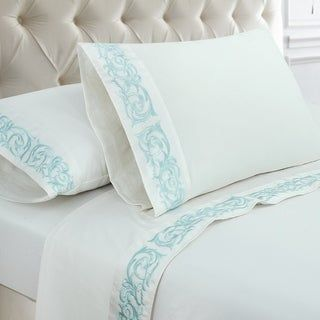 Trumpet Vine 300 Thread Count Cotton Sateen Bed Sheet Set