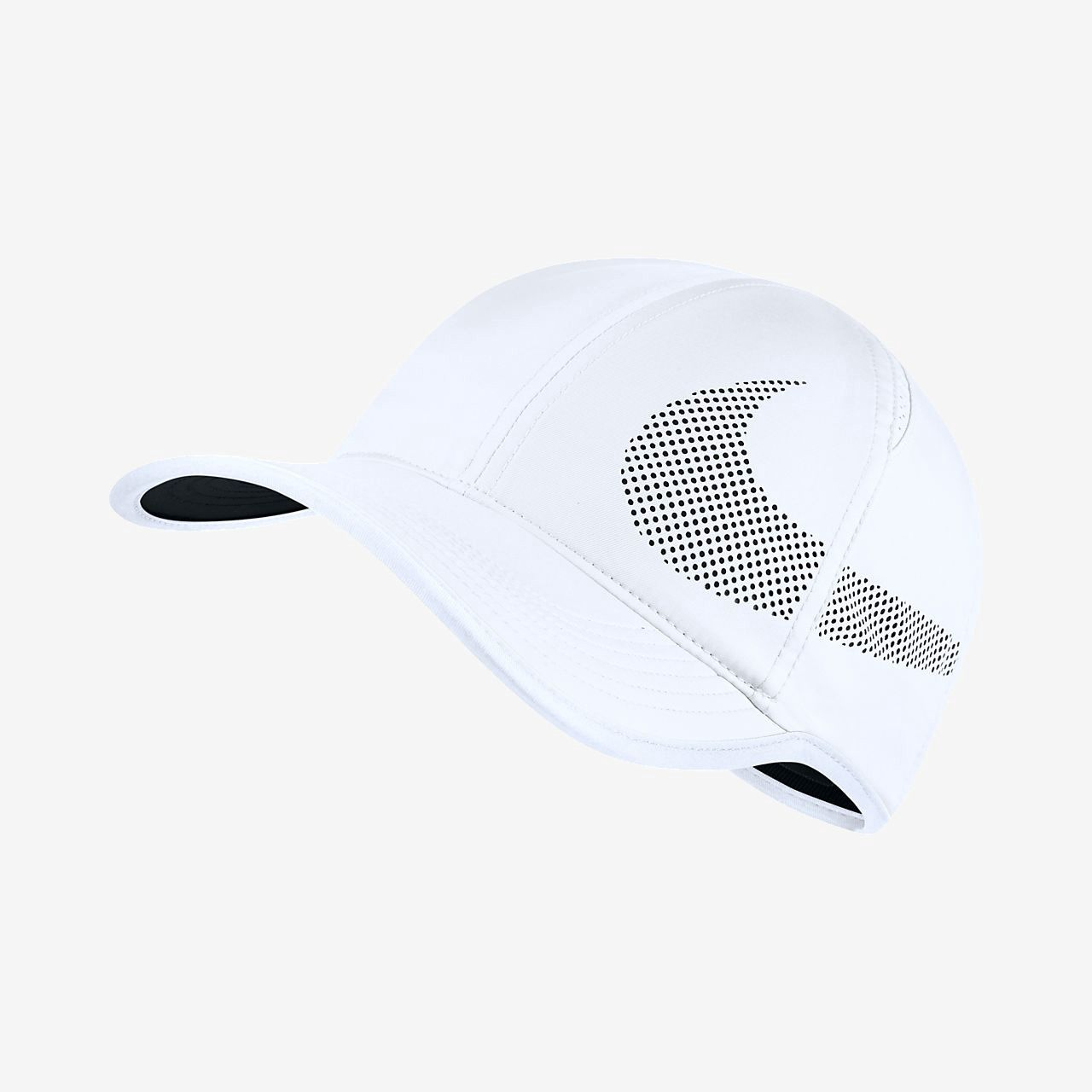 c903d4d35ddac Nike Court Aerobill Featherlight Adjustable Tennis Hat - One Size  White Black Black
