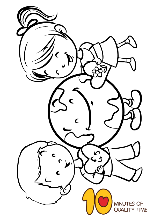 Earth Day Coloring Page We Love Earth Earth Day Coloring Pages Earth Coloring Pages Coloring Pages