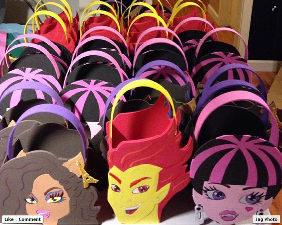 Monster High Inspired Party Bags Favors By Aspartycreations Birthday