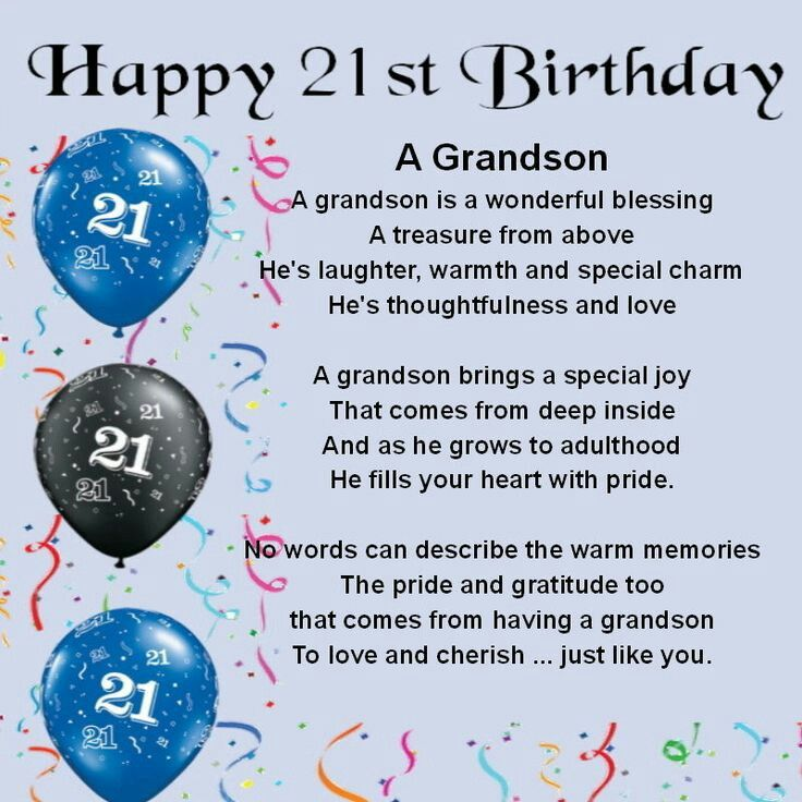 Grandson 21 Bday Happy 18th
