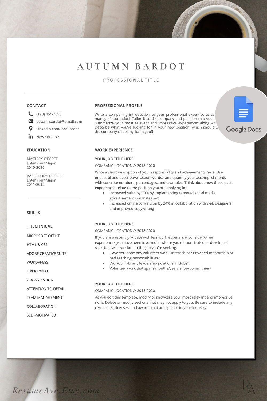 Free Google Docs Resume Templates Of Resume Simple
