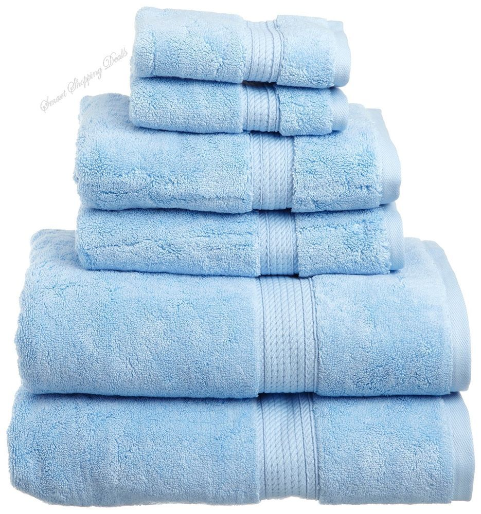 Luxury Bathroom Towel Set 6 Piece Bath Towels Hotel and Spa Quality ...