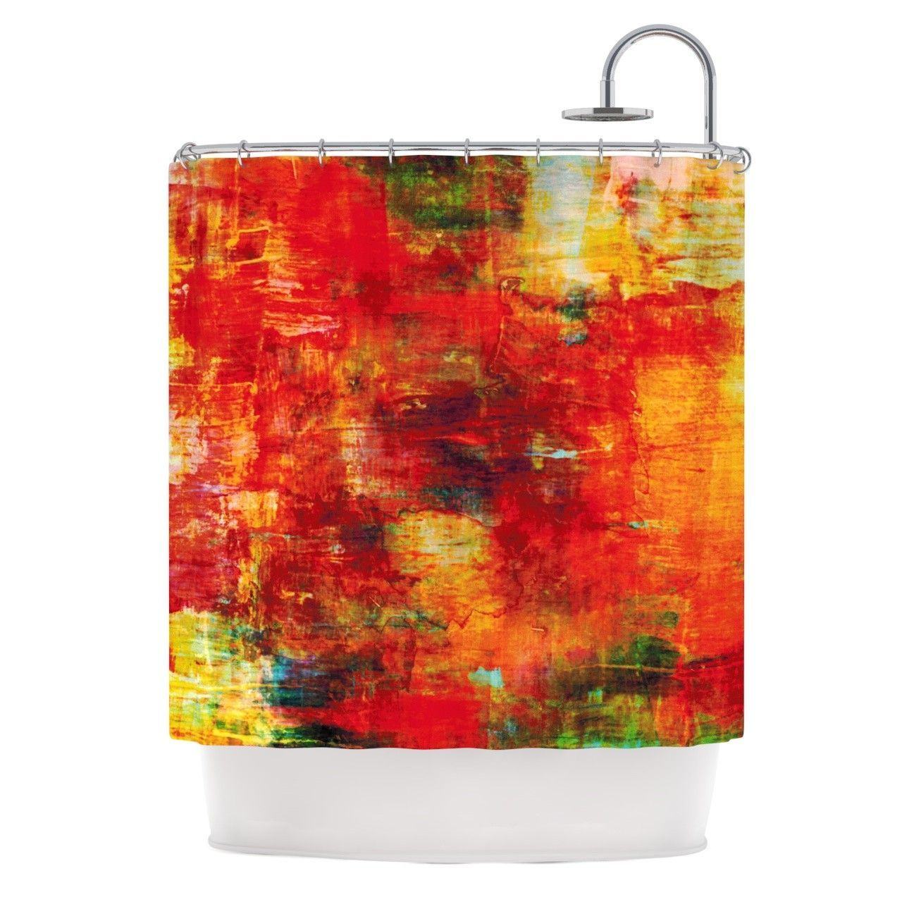 Japanese Temple In Fall Shower Curtain Set