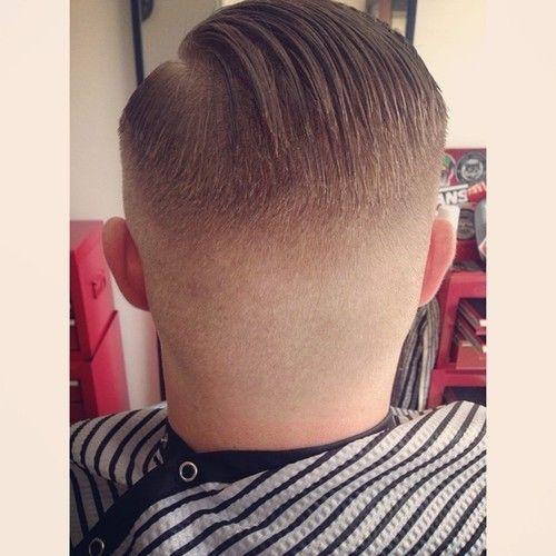 Shaved nape hair cut