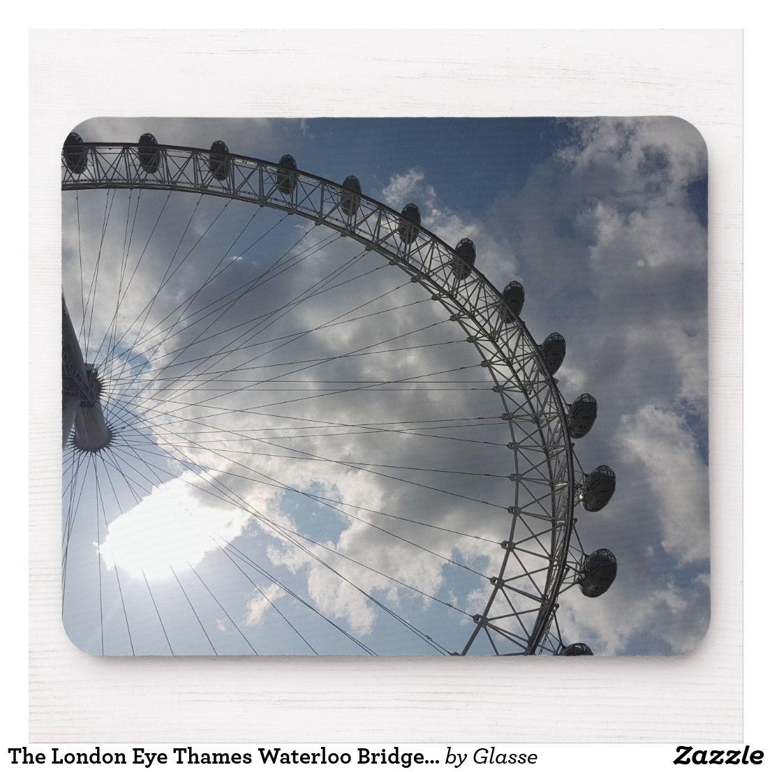 The London Eye Thames Waterloo Bridge Mouse Mat London Eye Waterloo Bridge Thames