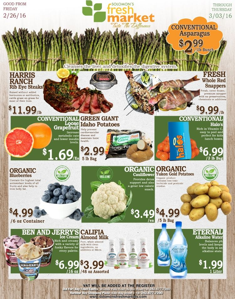 Be healthy with solomons fresh market deals fresh
