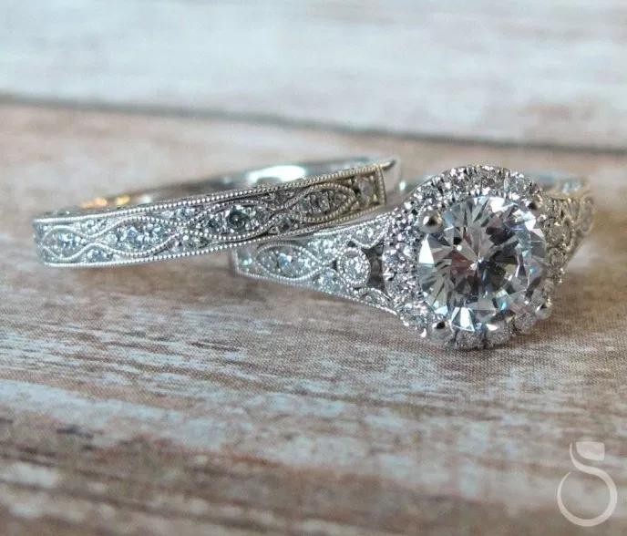 36 Schne VintageStil Verlobungsringe Ideen  Trends